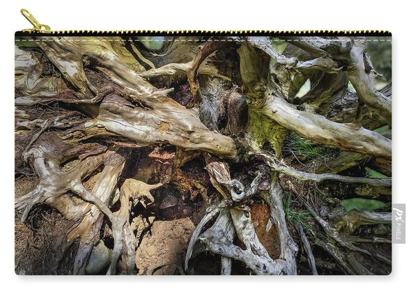 Carry-all Pouch featuring the photograph Wood Log In Nature No.8 by Juan Contreras
