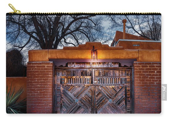 Wooden Gate In The Eve Carry-all Pouch