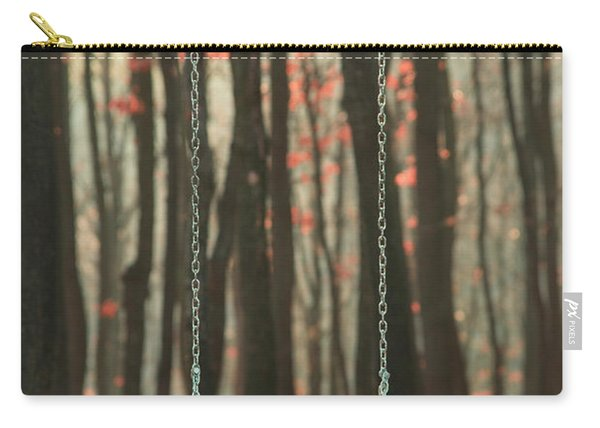 Wooden Swing In Autumn Forest Carry-all Pouch