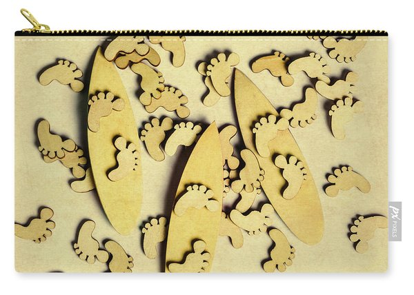 Wooden Wave Riders Carry-all Pouch