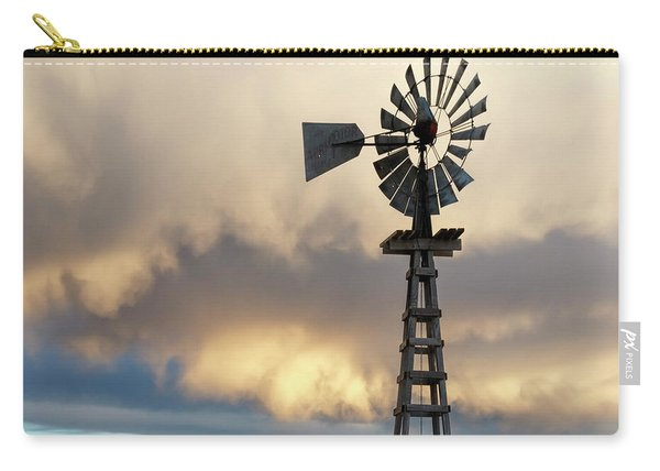 Carry-all Pouch featuring the photograph Wooden Windmill 01 by Rob Graham