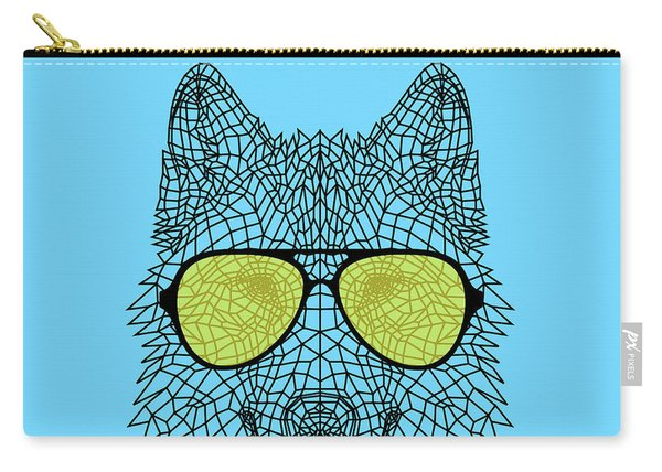 Woolf In Yellow Glasses Carry-all Pouch