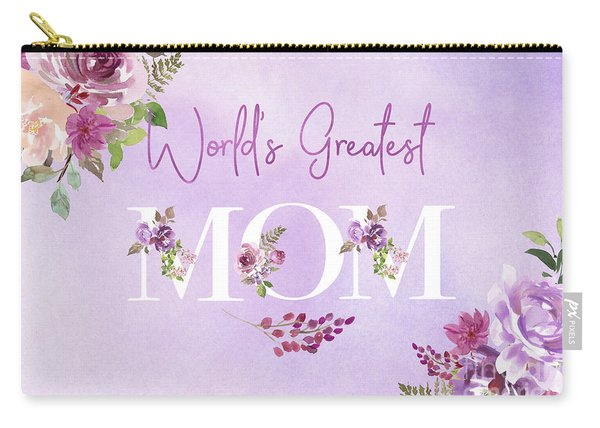 World's Greatest Mom 2 Carry-all Pouch