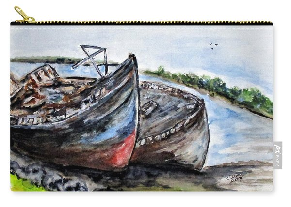 Wrecked River Boats Carry-all Pouch