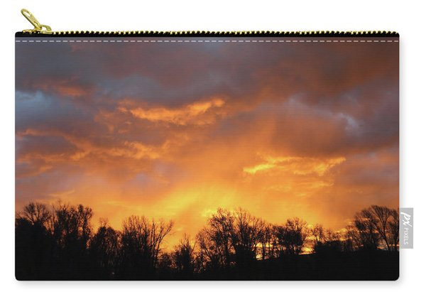 Carry-all Pouch featuring the photograph Wyoming Sunrise by Jean Clark