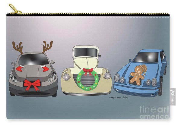 Xmas Cars Carry-all Pouch