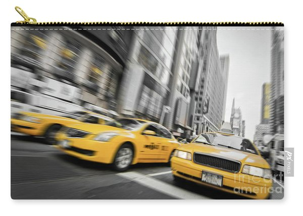 Yellow Cabs In New York Carry-all Pouch