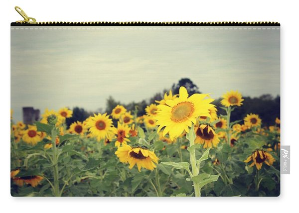 Carry-all Pouch featuring the photograph Yellow Fields by Candice Trimble