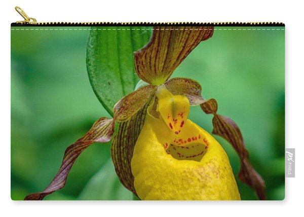 Yellow Lady's Slipper Carry-all Pouch