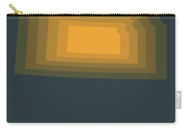 Yellow Map Of Kansas  Carry-all Pouch