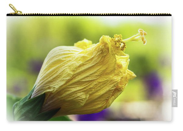 Yellow Mature Hibiscus  Carry-all Pouch