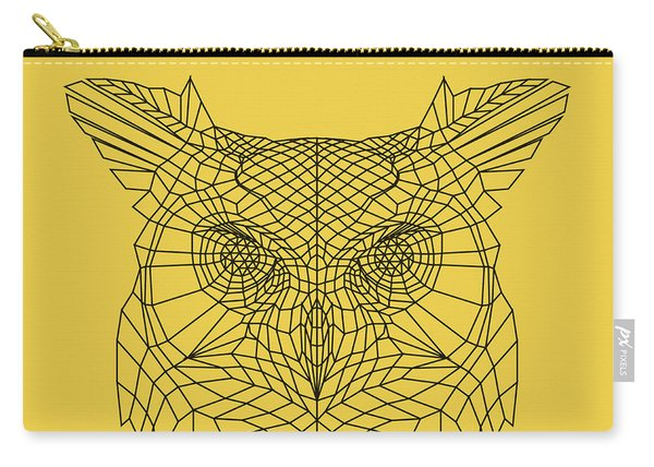 Yellow Owl Carry-all Pouch
