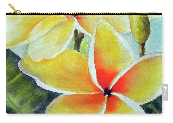 Yellow Plumeria Carry-all Pouch