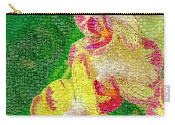 Yellow/rouge Orchids Carry-all Pouch
