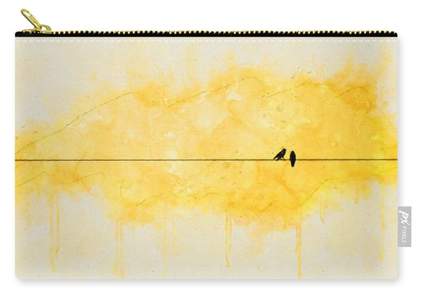 Yellow Sparrow Carry-all Pouch