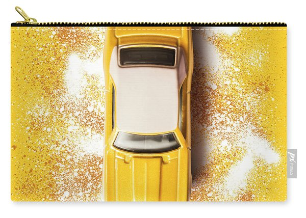 Yellow Street Machine Carry-all Pouch