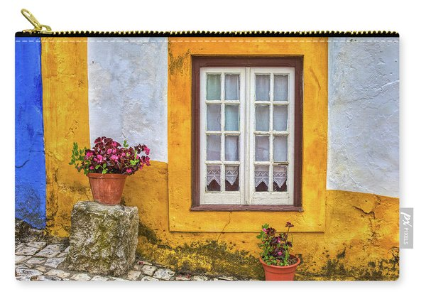 Yellow Window Of Obidos Carry-all Pouch