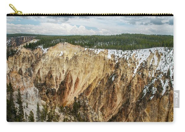 Yellowstone Canyon With Frosting Carry-all Pouch