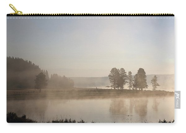 Carry-all Pouch featuring the photograph Yellowstone River Early Morning by Jean Clark