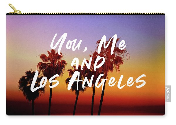You Me Los Angeles - Art By Linda Woods Carry-all Pouch