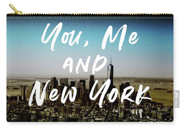 You Me New York Color- Art By Linda Woods Carry-all Pouch