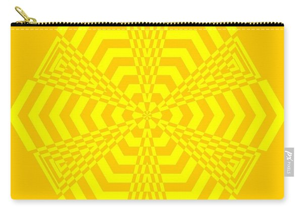 Young At Heart Yellow Carry-all Pouch