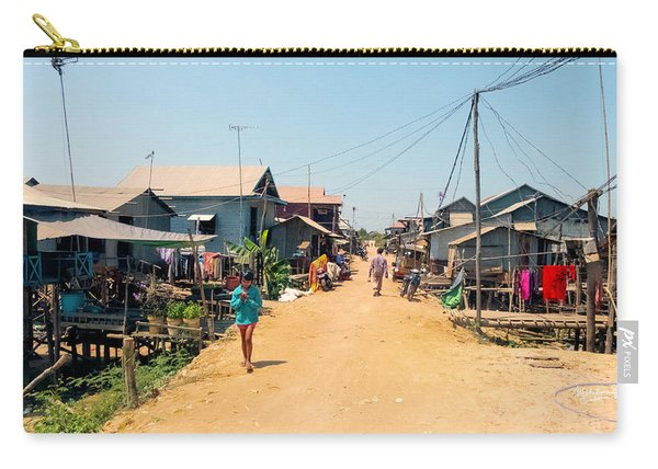 Young Girl - Houses On Stilts - Siem Reap, Cambodia Carry-all Pouch