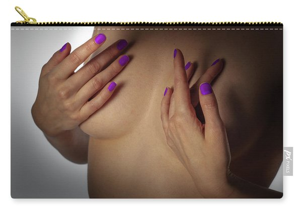 Carry-all Pouch featuring the photograph Your Hands No. 6 by Juan Contreras