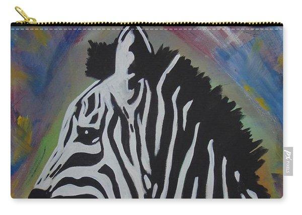 Zebra Drip Carry-all Pouch