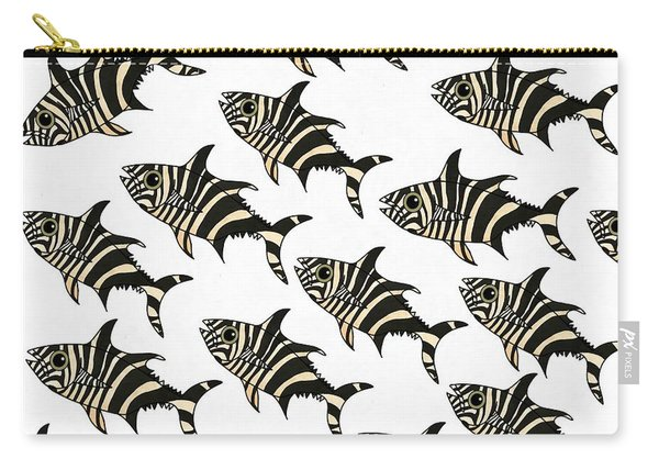 Zebra Fish 7 Carry-all Pouch