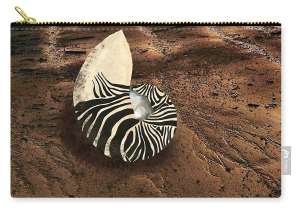 Zebra Nautilus Shell On The Sand Carry-all Pouch