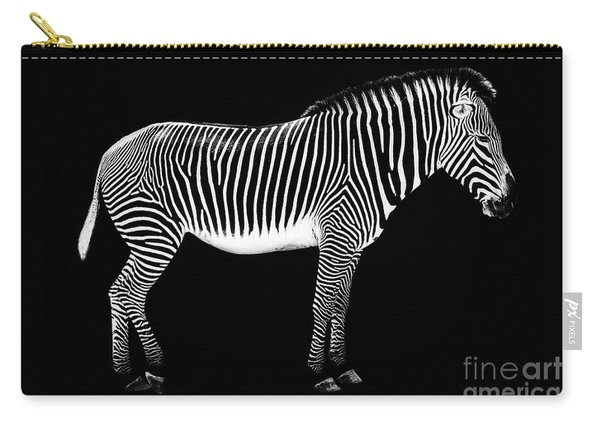 Zebra On Black Background Carry-all Pouch