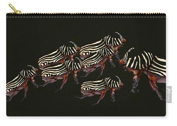 Zebra Pattern Rhinoceros Beetle 3 Carry-all Pouch