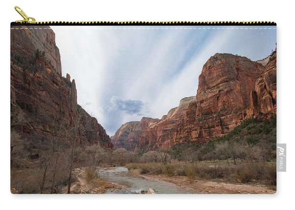 Zion National Park And Virgin River Carry-all Pouch