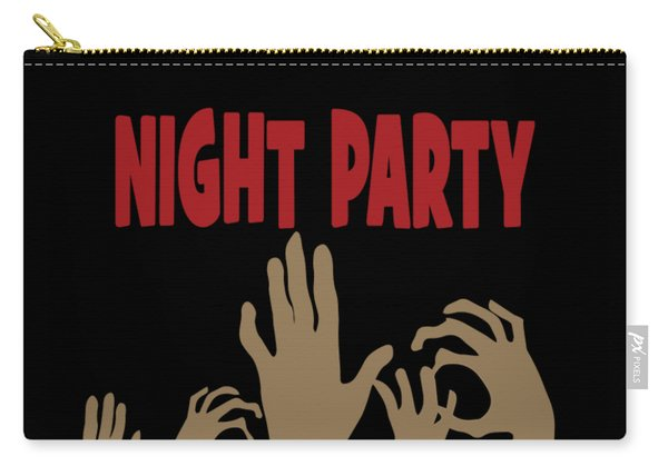 Zombie Night Halloween Party Costume Moon October Gift Carry-all Pouch