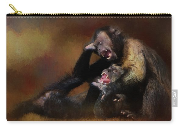 Zoo Monkey's Playing Carry-all Pouch