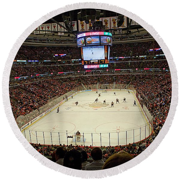 0616 The United Center - Chicago Round Beach Towel