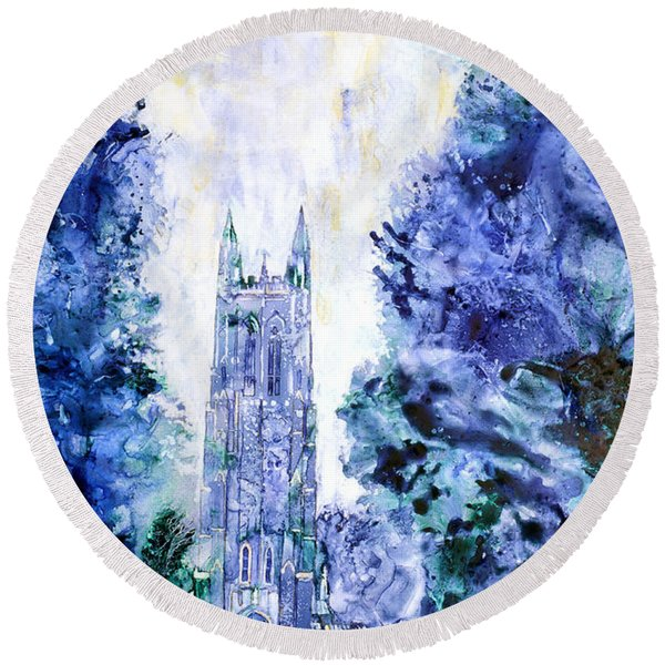 Duke Chapel Round Beach Towel
