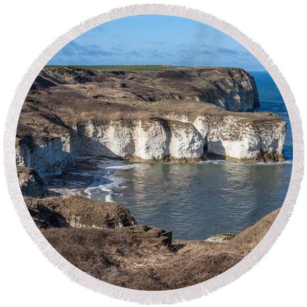 Flamborough Head Round Beach Towel