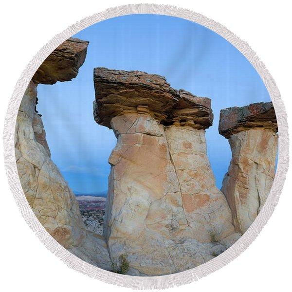 Hoodoo Rock Formations, Grand Round Beach Towel