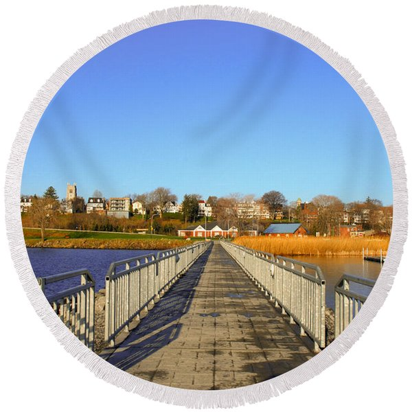 Lake Seneca Round Beach Towel