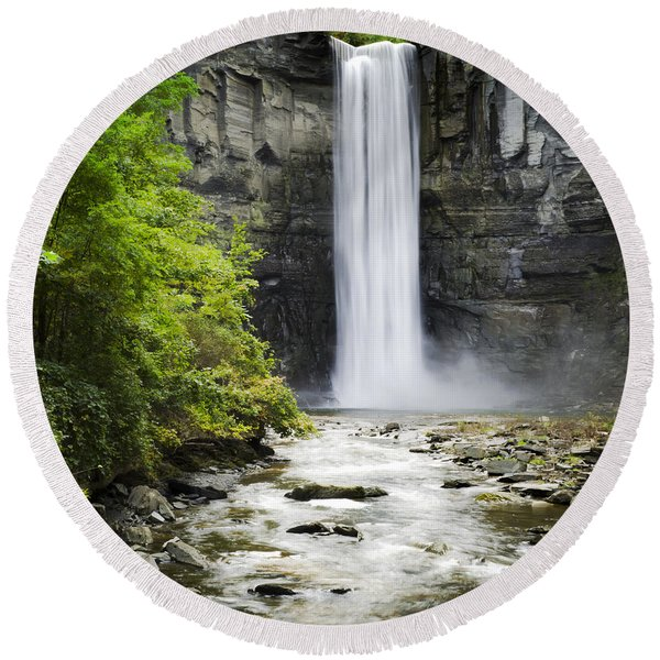 Taughannock Falls State Park Round Beach Towel