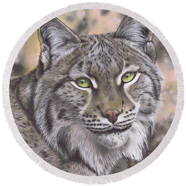 The Lynx Effect Round Beach Towel