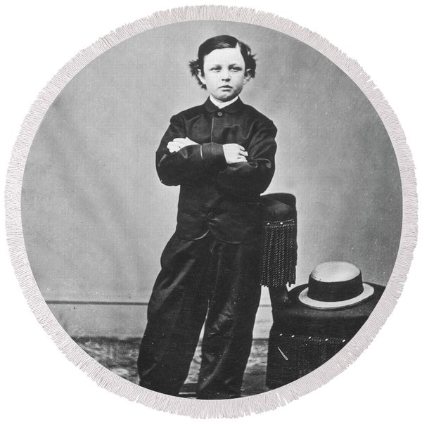 Thomas 'tad' Lincoln (1853-1871) Round Beach Towel
