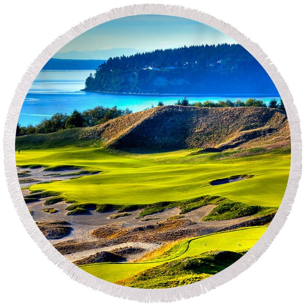 #14 At Chambers Bay Golf Course - Location Of The 2015 U.s. Open Tournament Round Beach Towel