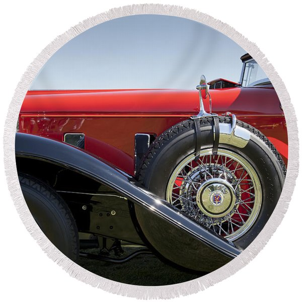 1932 Stutz Bearcat Dv32 Round Beach Towel