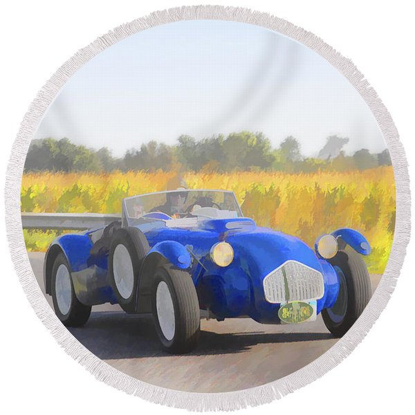 1953 Allard J2x Roadster Round Beach Towel