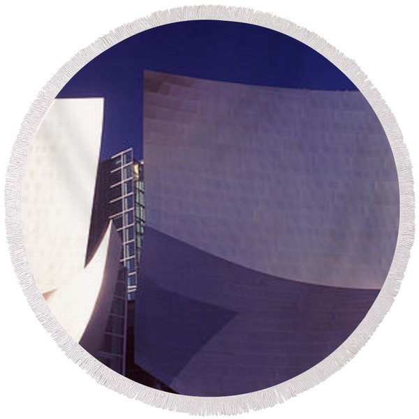 Low Angle View Of A Concert Hall, Walt Round Beach Towel