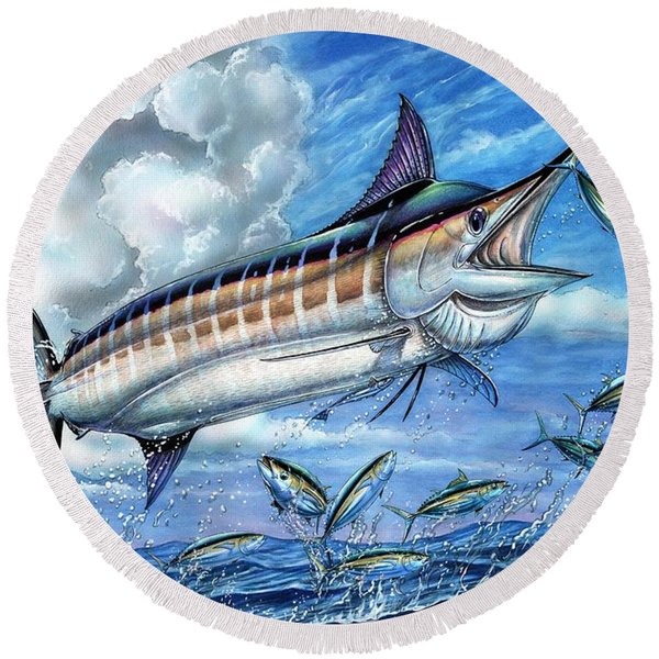 Marlin Queen Round Beach Towel