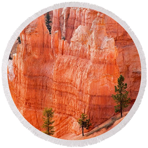 Sunrise Point Bryce Canyon National Park Round Beach Towel